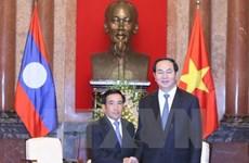 Le président Trân Dai Quang reçoit le vice-président laotien Phankham Viphavanh