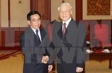 Le secrétaire général Nguyên Phu Trong affirme le soutien vigoureux et total du Vietnam au Laos