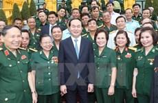 Le président Trân Dai Quang met à l'honneur des hommes d'affaires-vétérans de guerre