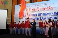 Cérémonie de départ des sportifs vietnamiens pour les JO de Rio 2016