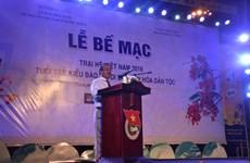 Clap de fin pour le camp d'été 2016 des jeunes Viet Kieu