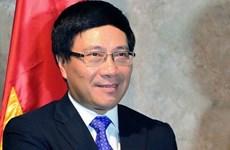 AMM 49 : le vice-PM et ministre des AE Pham Binh Minh poursuit ses activités au Laos