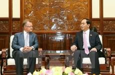 Le président Trân Dai Quang reçoit un professeur de marketing de l'Université de Harvard