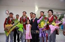 Retour de la délégation sportive vietnamienne des JO de Rio