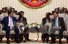 Une délégation de la Commission centrale de l'Organisation du PCV en visite au Laos