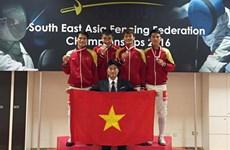 Escrime : le Vietnam remporte deux médailles d'or aux Championnats d'Asie du Sud-Est 2016