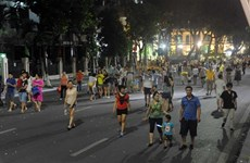 Hanoi: bilan du premier week-end sans voiture au lac Hoàn Kiêm