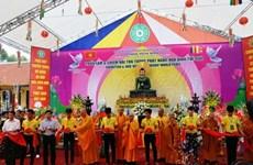 Réception de la statue du Bouddha de Jade pour la paix universelle à Vinh Phuc