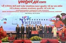 Ouverture de deux lignes directes Hai Phong-Séoul et Hai Phong-Bangkok