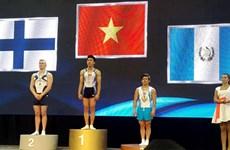 World Challenge Cup: les gymnastes vietnamiens gagnent deux médailles d'or