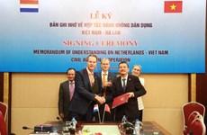 Les Pays-Bas soutiennent le développement du secteur de l'aviation civile du Vietnam