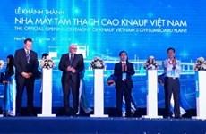 Une usine de plaques de plâtre de 30 millions d'euros voit le jour à Hai Phong