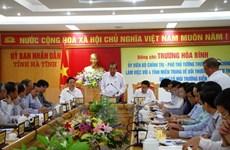 Formosa: Le vice-PM Truong Hoa Binh inspecte le travail de dédommagement