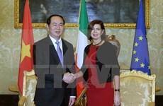 Tran Dai Quang rencontre les dirigeants du Parlement italien