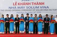La SARL sud-coréenne Solum Vina inaugure une usine dans la province de Vinh Phuc