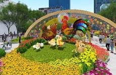 La rue des fleurs de Hô Chi Minh-Ville est prête pour le Tet