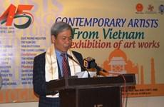 Expo d'œuvres d'art vietnamiennes en Inde
