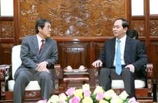 Le président Tran Dai Quang reçoit le nouvel ambassadeur japonais