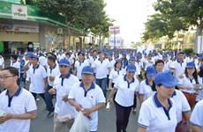 Marche philanthropique Lawrence S.Ting à Hô Chi Minh-Ville