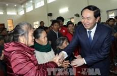 Le président Tran Dai Quang formule ses vœux du Tet à Nghe An