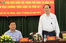 Conférence-bilan de la délégation de députés de Ho Chi Minh-Ville