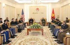 Le chef d'état-major adjoint de l'Armée populaire reçoit une délégation de l'Armée américaine