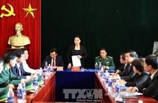 La présidente de l'AN Nguyên Thi Kim Ngân en tournée à Diên Biên