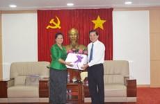 Une délégation des femmes cambodgiennes en visite à Binh Duong