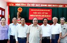 Le Premier ministre Nguyen Xuan Phuc rencontre l'électorat de Hai Phong