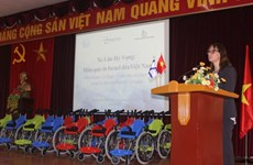 Cadeau de l'ambassade d'Israël aux enfants handicapés du Vietnam
