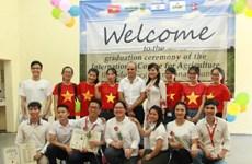 Des étudiants vietnamiens diplômés d'un cours de formation en agriculture en Israël