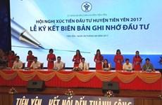 Quang Ninh: près de 1.000 milliards de dôngs injectés dans le district de Tiên Yên