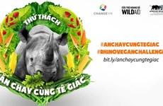 """La campagne """"Pratiquer le végétalisme avec les rhinocéros"""" a lieu à HCM-Ville"""