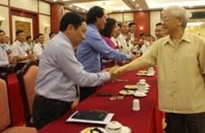 Le chef du Parti rencontre des agriculteurs exemplaires