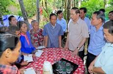 Da Nang: Tran Dai Quang inspecte des travaux pour remédier aux conséquences du typhon Damrey