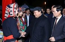 Le Premier ministre Nguyên Xuân Phuc visite l'espace culturel et touristique de Hà Giang