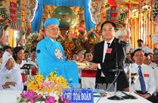 Clôture du congrès du Saint-Siège caodaïste de Tây Ninh pour le mandat 2017-2022