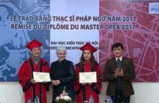 Coopération franco-vietnamienne : remise du diplôme du Master à Hanoï
