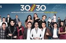 "Forbes Vietnam honore ""30 under 30"" en 2018"