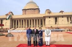 Cérémonie d'accueil officielle en l'honneur du président Tran Dai Quang en Inde
