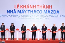 Inauguration de l'usine de production de voitures Thaco Mazda