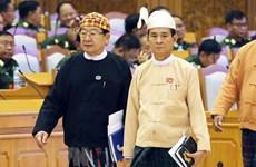 Message de félicitations au nouveau président du Myanmar