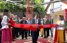 Inauguration d'une station de télévision construite au Cambodge avec l'aide du Vietnam