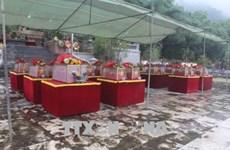 Thanh Hoa : inhumation de restes de 23 volontaires tombés au Laos