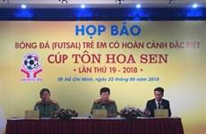 """Football: la Coupe """"Tôle Hoa Sen"""", une rencontre sportive attendue à Hô Chi Minh-Ville"""