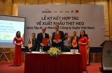 Le Vietnam exporte son premier lot de porc frais à l'étranger