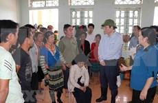 Crues : un vice-président de l'Assemblée nationale se rend à Lai Chau