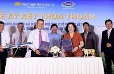 Coopération stratégique entre Vietnam Airlines et Vinamilk