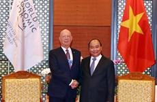 Le Premier ministre demande au WEF de soutenir les initiatives du Vietnam