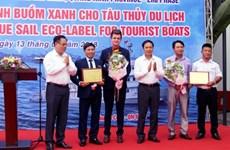 """Deux paquebots de croisière à Ha Long reçoivent le label écologique """"Voile verte"""""""